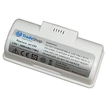 Trade de Shop Premium Batería de ion de litio 3,6 V/3000 mAh/11 WH para iRobot Braava Jet 240 sustituye 4446040 bc674: Amazon.es: Hogar
