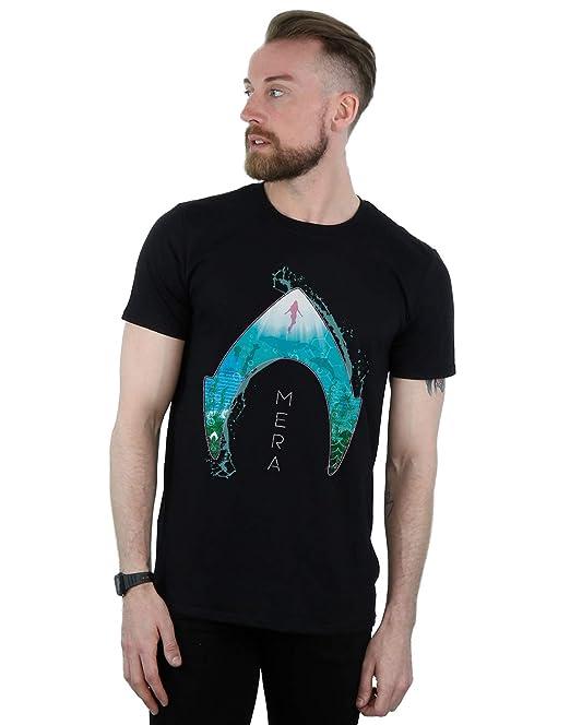 DC Comics Hombre Aquaman Mera Ocean Logo Camiseta: Amazon.es: Ropa y accesorios