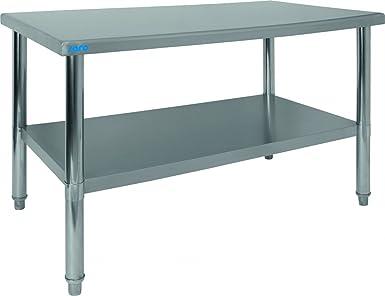 Saro 213 - 2100 Amelie mesa de trabajo, acero inoxidable ...