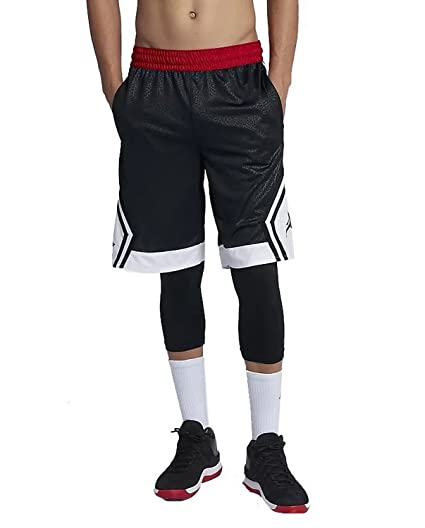 bb3da3e1451 Nike Men's Jordan Rise Diamond Elephant Shorts Black/Gym Red/White (1X Big