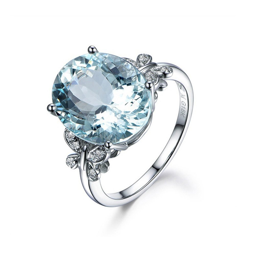 Meolin Rhinestone Butterfly Ring Natural Topaz Stone Crystal Engagement Ring Charm Gemstone Ring Women Jewelry (Size/ 6/7/8/9/10)