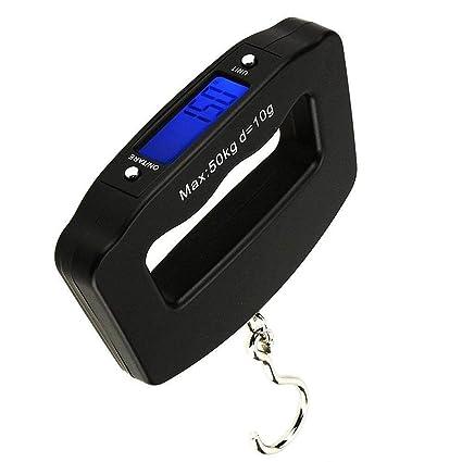 MUTANG Báscula Digital portátil para Equipaje de 50 kg / 110 lbs con 4 Unidades (