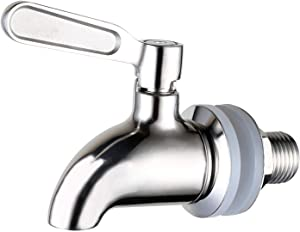 Kymkong Spigot Replacement for Beverage Dispenser,5/8 Inch(16mm) Shank Lead Free Spigot for Drink Dispenser,Stainless Steel Polished
