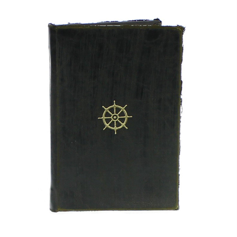 HomArt Maritime Embossed Journal - Wheel (Black) (Set of 12)