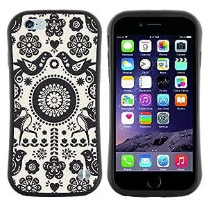 "Pulsar iFace Series Tpu silicona Carcasa Funda Case para Apple (4.7 inches!!!) iPhone 6 / 6S (4.7 INCH) , Patrón Crotcheted Blanco Negro"""