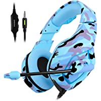 ONIKUMA K1 Over-Ear 3.5mm Wired Gaming Headphones (Blue Camouflage)