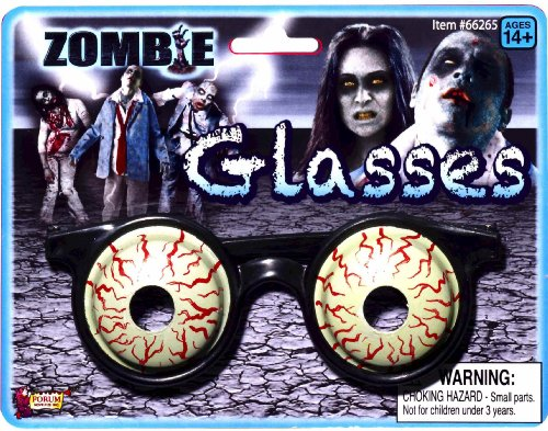 [Forum Novelties Zombie Costume 3D Glasses Bloody Eyeballs] (Costume Eyeball Glasses)