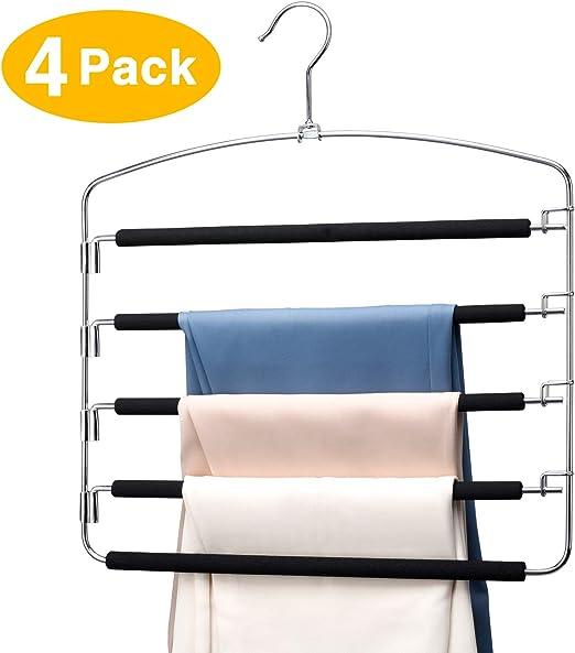 2pcs Pack Skirt Hangers Pants Hangers Closet Organizer Fold Up Hanger