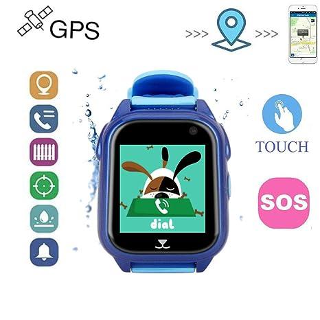 Relojes Niños GPS Relojes Inteligentes Niños Rastreador GPS con Posicionamiento de La Estación Base GPS +