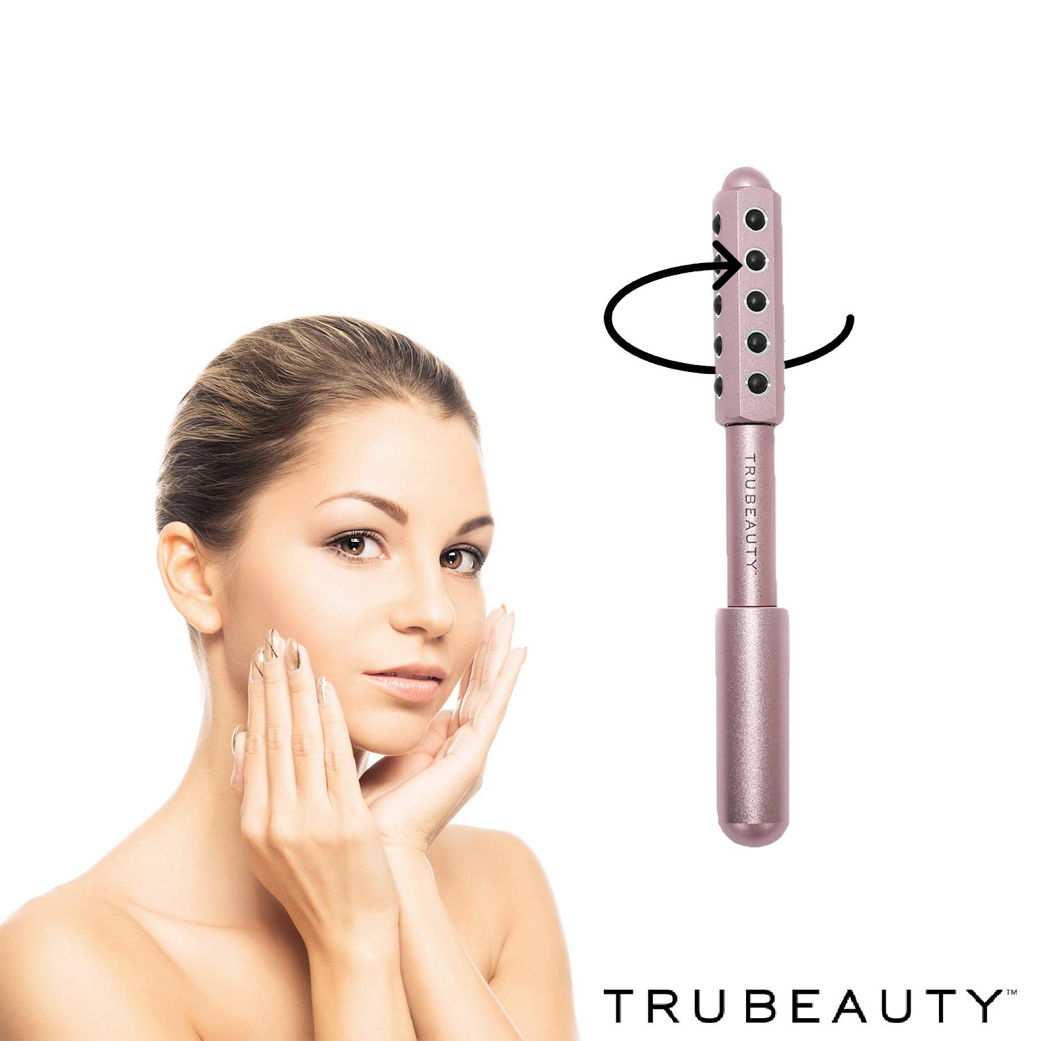 Tru Beauty, Anti-aging Derma Roller Spa Quality Facial Tool, Safe for All Skin Types - Pink by TruBeauty