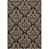 Safavieh Courtyard Collection CY6930-26 Black and Cream Indoor/Outdoor Area Rug (5'3″ x 7'7″)