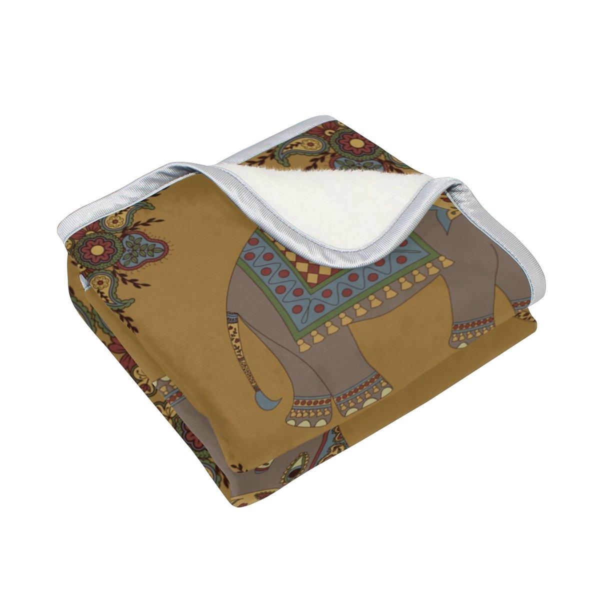 Vantaso Soft Blankets Throw India Mandala Elephants Microfiber Polyester Blankets for Bedroom Sofa Couch Living Room for Kids Children Girls Boys 60 x 90 inch by Vantaso (Image #2)