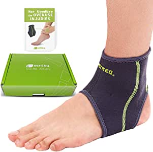 Ankle Brace Men Women Compression Support for Sprained Ankles for Jogging and Running - Elastic Neoprene Slim Fit for Runners Foot and Ankle Stabilizer - Plantar Fasciitisstic Walk Support