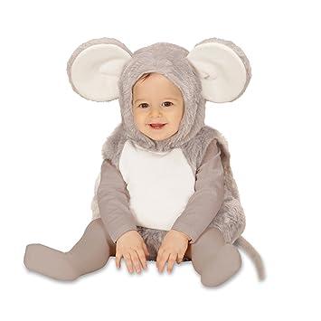 Amakando Traje ratón Disfraz de ratoncito Infantil 98 cm años 1 - 2 Vestimenta Infantil Rata Overol Animal Pelele Atuendo bebé ratita Vestido roedor para ...