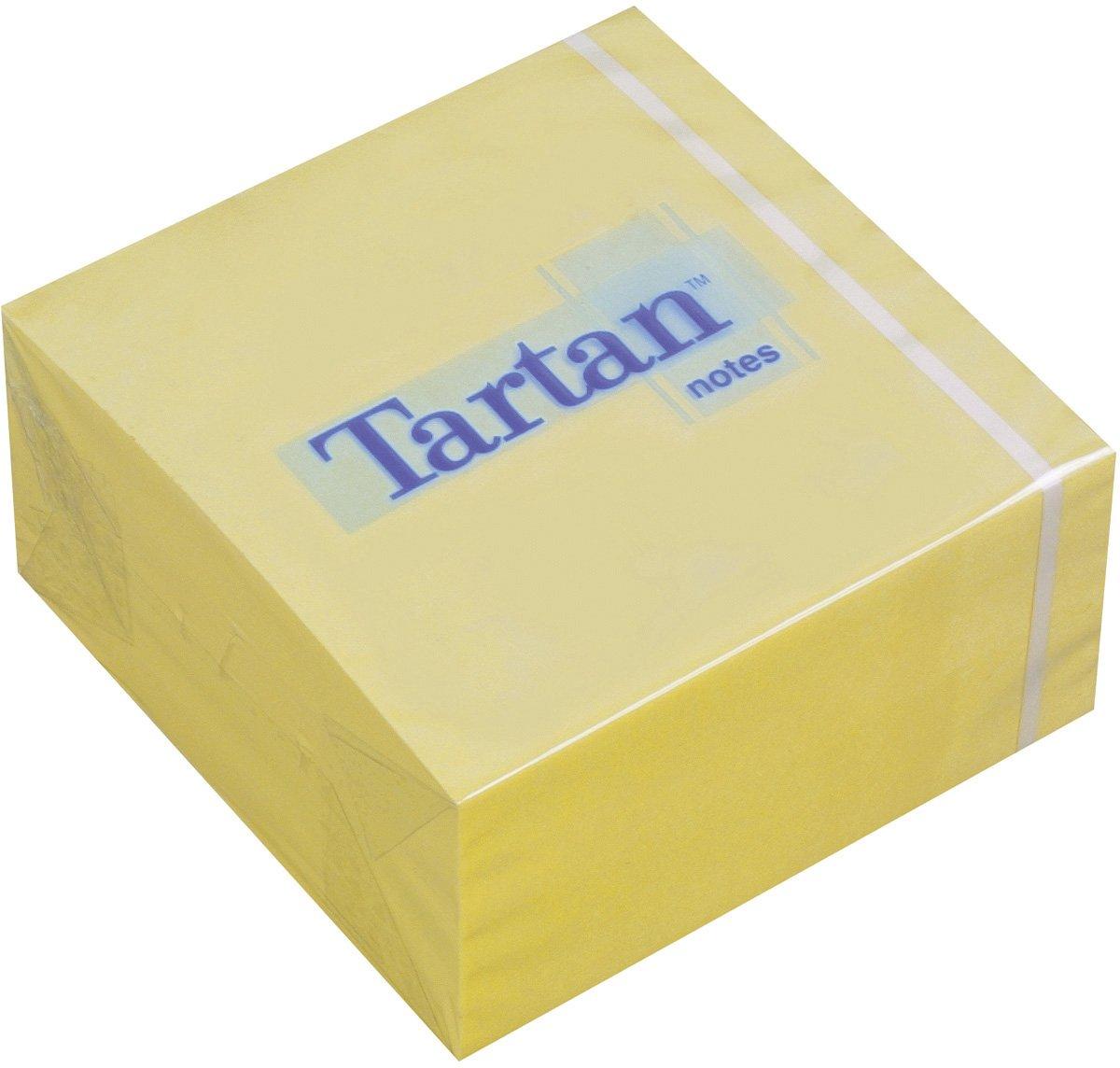 Tartan 7676C-Y - Blocchetto di foglietti adesivi tipo Post-It, 76 x 37 x 76 mm, 63 g/mq, 400 fogli x 1 blocchetto, giallo 3M Deutschland GmbH
