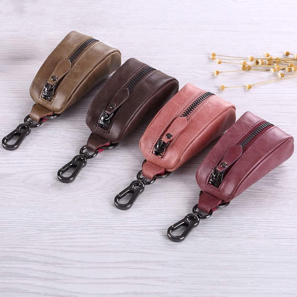 SDBRKYH Paar Schlüsseltasche Herren Leder Größe Multifunktions Autoschlüssel Tasche Tasche Tasche Damen Reißverschluss Leder Geldbörse B07P2XT17S Schlüsselmppchen 4014a0