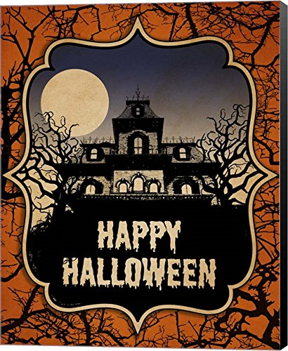 Haunted House by J Hovenstine Studios Canvas Art Wall Picture,
