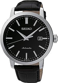 34b783b98cb7b9 Seiko Montre Homme Analogique Quartz avec Bracelet en Cuir ...