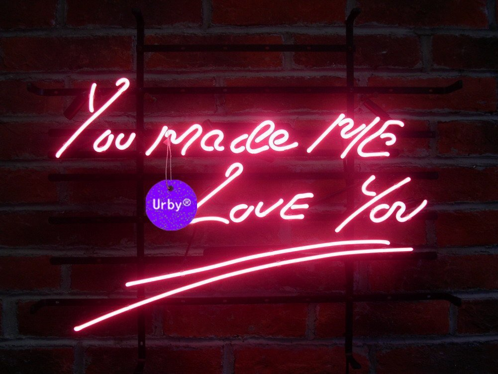 Urby® 24''x20'' Larger You Made Me Love You Beer Bar Neon Sign 3-Year Warranty-Best Choice!