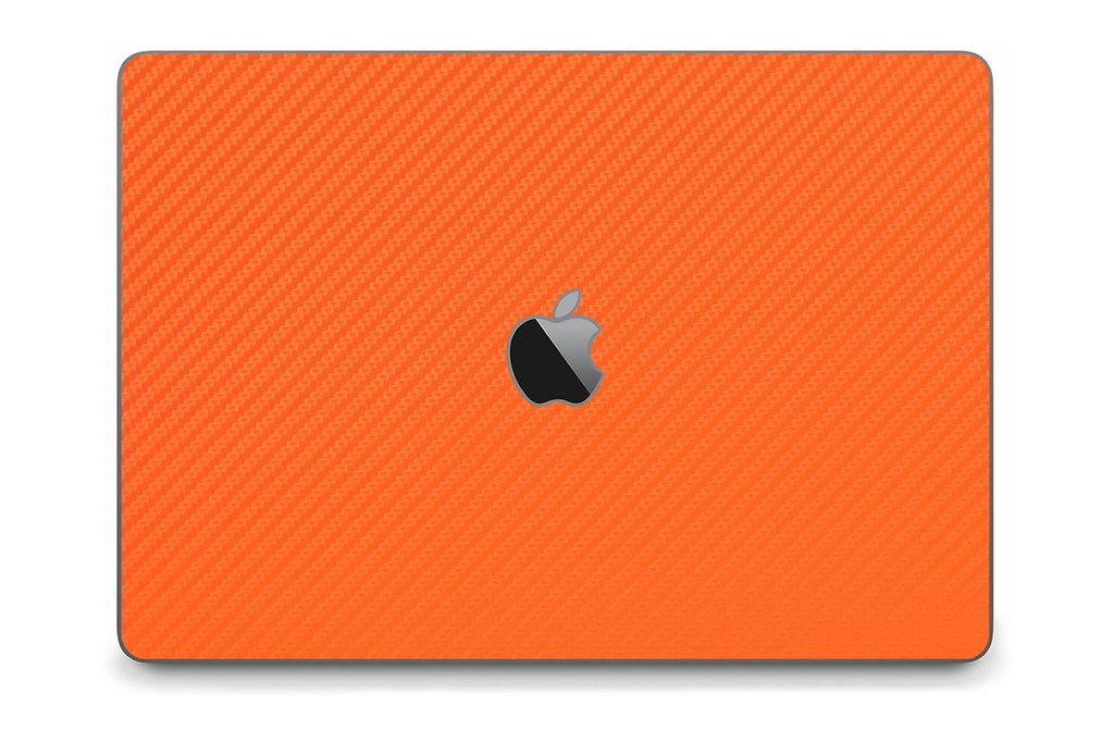 iCarbons Orange Carbon Fiber Skin Wrap for MacBook Pro 13'' (Late 2016-Current, No Touchbar) Full Combo