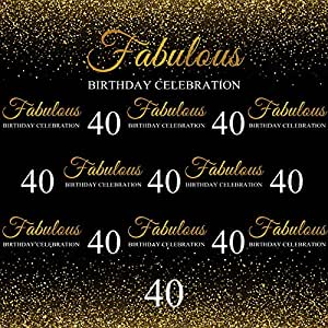 YEELE 5x8ft Fabulous Pattern Backdrop 30th 40th 50th 60th 70th Birthday Anniversary Photography Background Mom Papa Photos Kids Woman Man Portrait Photobooth Digital Wallpaper