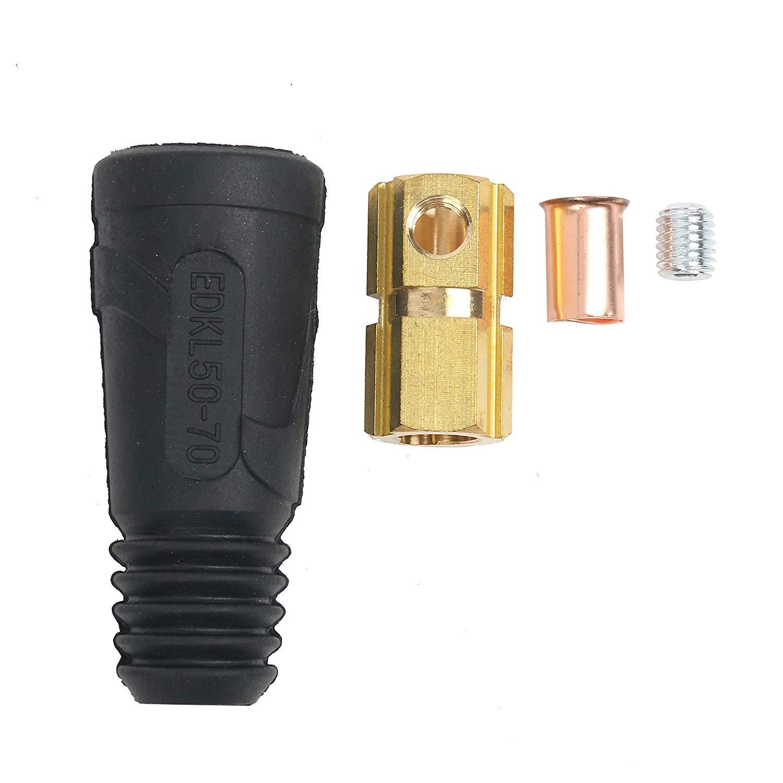 50 sq-mm 3 Packungen WIG-Schwei/ßkabel Panel Connector-Stecker EDKL35-50 200 Ampere-300amp Dinse Quick Fitting 35 # 4-# 1