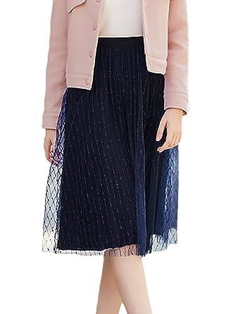 Mujer Petticoat Elegantes Vintage Falda Flecos Tul Faldas Otoño ...