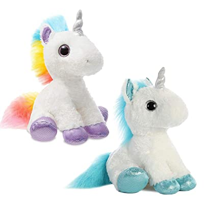 Aurora World Rainbow Unicorn Combo Set, Multi Colors (Two Packs) (Frosty & Rainbow Combo): Toys & Games
