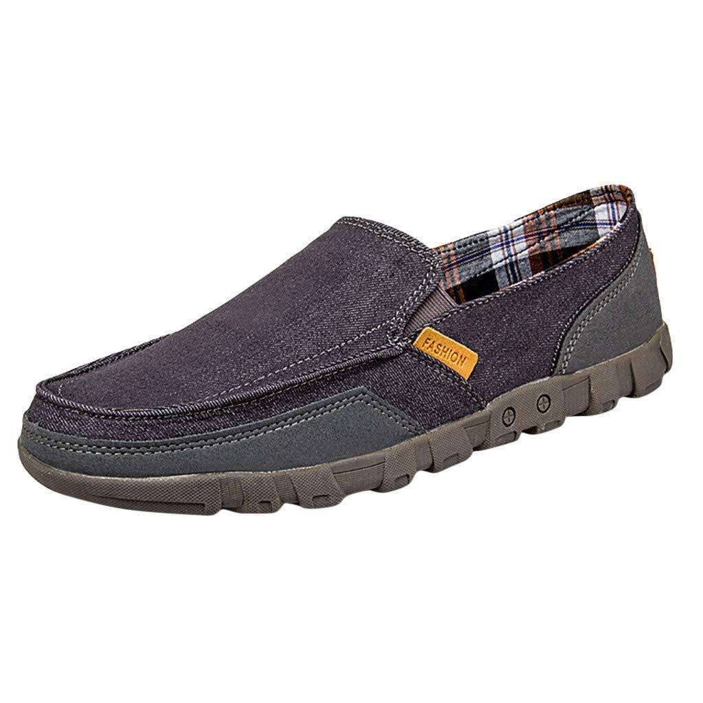 Sayla Zapatos Zapatillas para Hombres Casual Moda Verano Zapatos De Lona C/óModos Zapatos De Los Hombres De Encaje-Luz De Verano Mocasines Zapatos Plus Tama/ñO