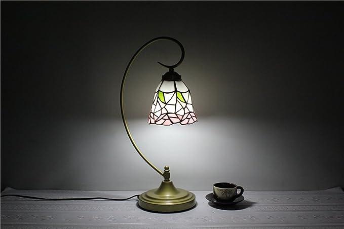 TOYM-6-inch small fresh pink high-end hand-Lamp Tiffany ...