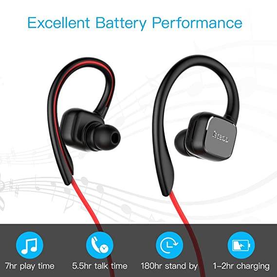 Auricular magnético JESBOD Auriculares Bluetooth 4.1 Cascos inálambrico Deportivos, Auricular con Imán Magnético, tecnología APTX y de Ruido de Cancelación ...