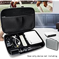 Featured Projector Case for WOWOTO H8 Video Projector, Slim desgin with smart dividers for comparts for H8, Remote Controller, adapter, Mini tripod Tablet stand, cables and other accessories