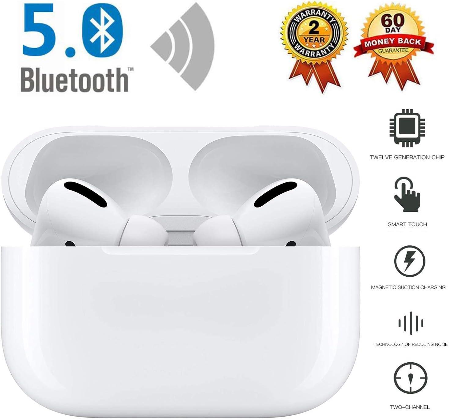 Auriculares Bluetooth 5.0, Auriculares inalámbricos internos, IPX7 a Prueba de Agua, Compatible con iPhone/Huawei/Samsung/Airpods Pro