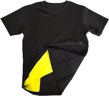 Camiseta de neopreno efecto sauna adelgaza brazos y abdomen mujeres tallas S-XXL (Talla L) : Amazon.es: Deportes y aire libre