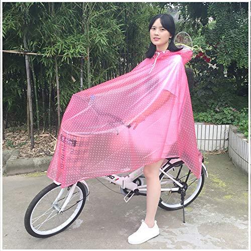 Equitazione Equitazione e Poncho Adulto Trasparente Trasparente Bicicletta Geyao Mountain Impermeabile Blue Uomini Pink Studente Bicicletta Singolo Color Dimensione Bicicletta XXL Donne Batteria Bike wSv7q6Av