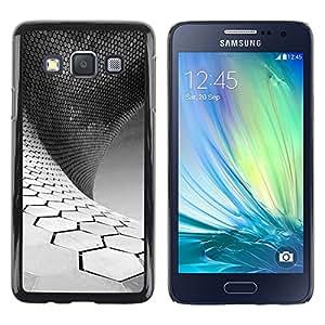 TopCaseStore / la caja del caucho duro de la cubierta de protección de la piel - Science White Black Minimalist - Samsung Galaxy A3 SM-A300
