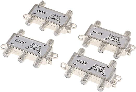 4Pcs 4 Way Cables Coaxiales Divisores De TV para TV ...