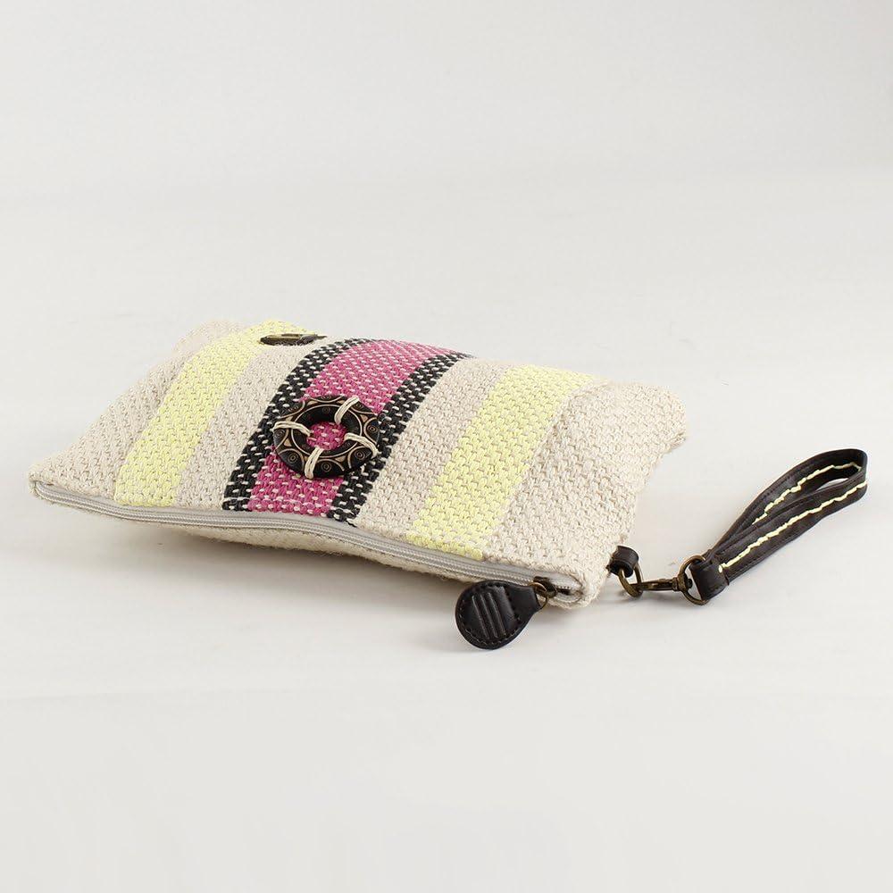 Eferri 18x28x3 cm Bolso de playa rafia de mano Zuria para Mujer