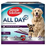 Simple Solution All Day Premium Dog and Puppy Pads with lavender Scent, Large - 50-Count