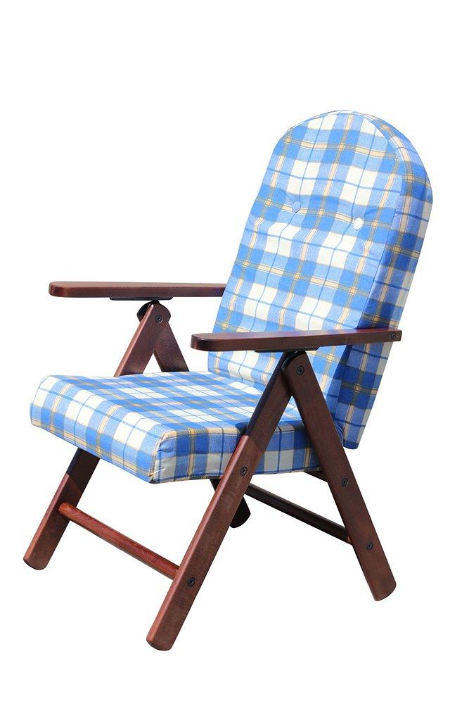 POLTRONA SEDIA SDRAIO AMALFI COLORE VERDE in legno reclinabile 4 posizioni cuscino imbottito soggiorno cucina salone divano