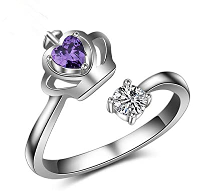 Lovinda Girl Silver Plated Ring Fashion Gold Plated Open Adjustable
