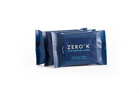 Zero K - Toallitas de enfriamiento y limpieza - 3 paquetes (15 toallitas)