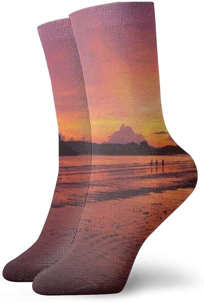 Pack de calcetines de vestir unisex Playa Paisaje Mar Costa Agua Arena Océano Horizonte Nube Cielo Puesta de sol Mañana Divertidos Calcetines de poliéster: Amazon.es: Ropa y accesorios