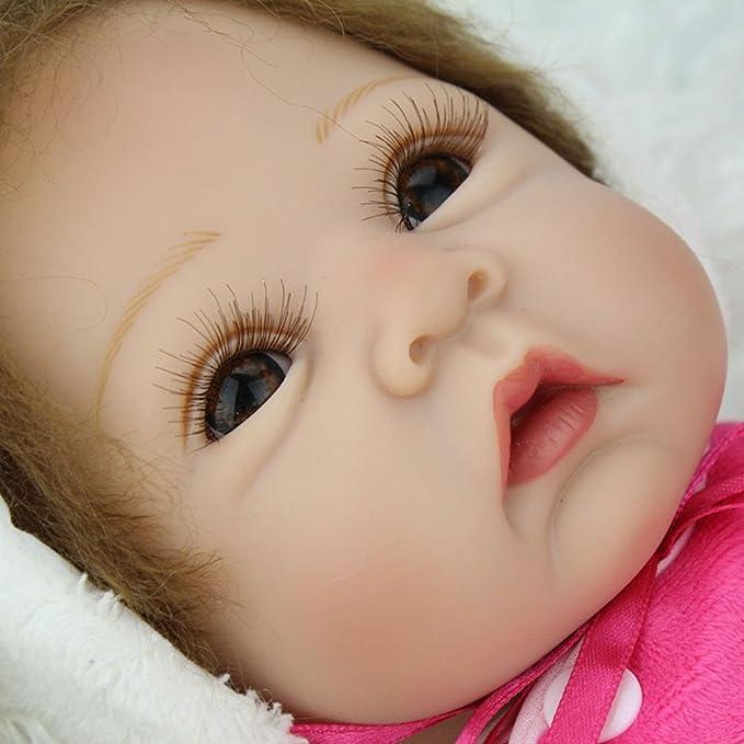 OtadDolls 22inch 55cm Bebe Reborn mu/ñeca ni/ña Silicona Realista Ni/ño peque/ño Reborn Baby Doll Magnetismo Juguetes Girls Recien Nacidos Ojos Abiertos