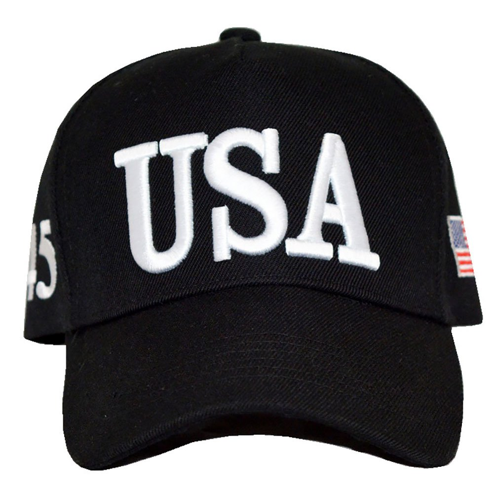CHUNG Adult Adjustable Trump Hat Cotton Cap Make America Great Again 2020 (Black)) DiSX-2018-Black-2020