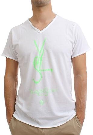Boom Bap YLS V-Neck Shirt white//green