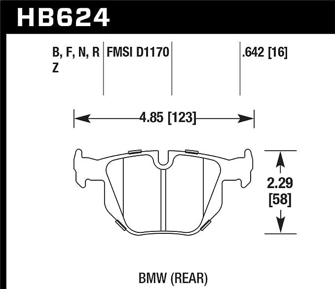 Hawk Performance HB551N.748 HP Plus Brake Pad