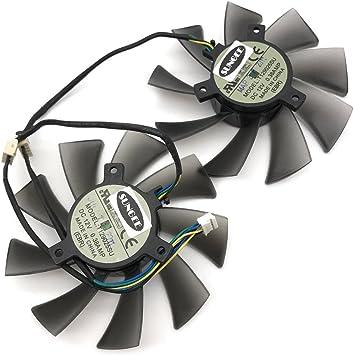 2pcs//lot GA81S2U 12V 0.38A 75mm 4Pin Apistek Cooler Fan for ZOTAC GTX960 4G PCI-EDC Graphics Card Fan Fan A 1pcs