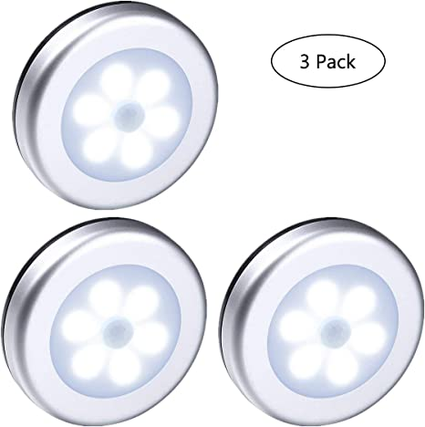 Yooap 3 Pack LED Sensor de movimiento de luz nocturna, 6 LED ...