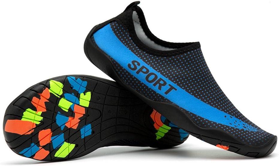 Qiiueen Zapatos De Agua,Estrella Azul Calcetines De Buceo para Hombres Y Mujeres Calcetines De Natación Calcetines De Playa Zapatos para Snorkel Zapatos De Natación Zapatos De Yoga: Amazon.es: Deportes y aire libre
